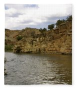 New Photographic Art Print For Sale Banks Of The Rio Grande New Mexico Fleece Blanket