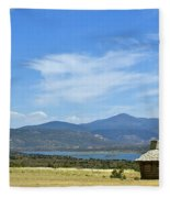 New Photographic Art Print For Sale Cabin At The Ghost Ranch New Mexico Fleece Blanket