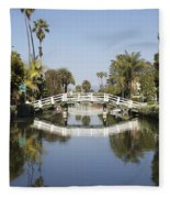 New Photographic Art Print For Sale Canals Of Venice California Fleece Blanket