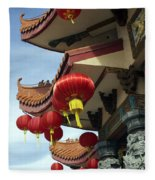 New Photographic Art Print For Sale Downtown Chinatown Fleece Blanket