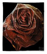 Perfect Gothic Red Rose Fleece Blanket