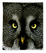 New Photographic Art Print For Sale   Great Grey Owl Fleece Blanket