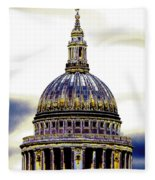 New Photographic Art Print For Sale   Iconic London St Paul's Cathedral Fleece Blanket