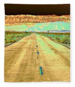 New Photographic Art Print For Sale Long Road To The Valley Of Fire Fleece Blanket
