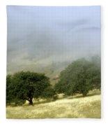 Mist In The Californian Valley Fleece Blanket