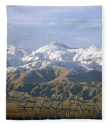 New Photographic Art Print For Sale Palm Springs Wind Farm Landscape Fleece Blanket