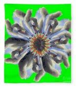 New Photographic Art Print For Sale Pop Art Swan Flower On Green Fleece Blanket