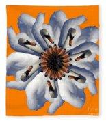 New Photographic Art Print For Sale Pop Art Swan Flower On Orange Fleece Blanket