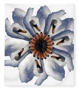 New Photographic Art Print For Sale Pop Art Swan Flower On White Fleece Blanket