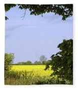 New Photographic Art Print For Sale Yellow English Fields 3 Fleece Blanket