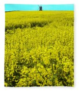 New Photographic Art Print For Sale Yellow English Fields 4 Fleece Blanket
