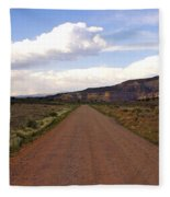 Red Road From The Benedictine Abbey Of Christ In The Desert New Mexico  Fleece Blanket