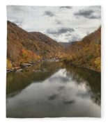 New River Fall Reflections Fleece Blanket