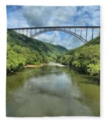 New River Gorge Bridge Fleece Blanket