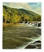 New River Landscape Fleece Blanket