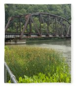 New River Scene 14 B Fleece Blanket