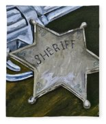 New Sheriff  In Town  Fleece Blanket