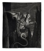 New Terror I Conceived From Dantes Inferno Fleece Blanket