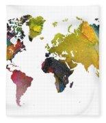 New World Map Fleece Blanket