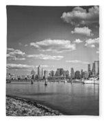 New World Trade Center Bw Fleece Blanket