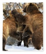 New Years Celebration Fleece Blanket
