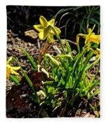 New Yellow Flowers 1 Fleece Blanket