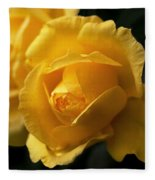 New Yellow Rose Fleece Blanket