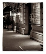 New York At Night - The Phone Call - Theatre District Fleece Blanket
