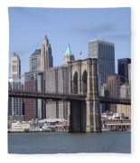 New York Bridge 3 Fleece Blanket