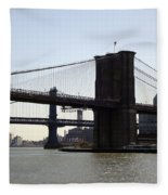 New York Bridge 5 Fleece Blanket