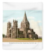 New York City - The Cathedral Church Of St John The Divine - 1915 Fleece Blanket