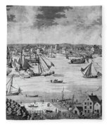 New York City, 1717 Fleece Blanket