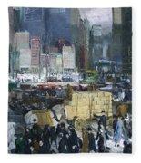 New York City 1900s Fleece Blanket