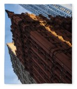 New York City - An Angled View Of The Potter Building At Sunrise Fleece Blanket