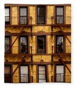 New York City Apartment Building Study Fleece Blanket