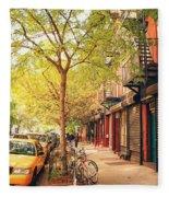 New York City - Autumn In The East Village  Fleece Blanket