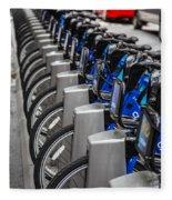New York City Bikes Fleece Blanket