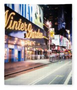 New York City - Broadway Lights And Times Square Fleece Blanket
