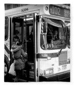 New York City Bus Fleece Blanket