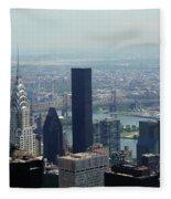 New York City Chrysler Building Fleece Blanket