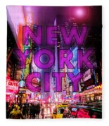 New York City - Color Fleece Blanket