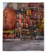 New York - City - Corner Of One Way And This Way Fleece Blanket