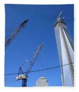 New York City Freedom Tower Fleece Blanket
