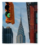 New York City, New York State, United Fleece Blanket