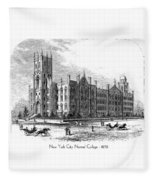 New York City Normal College - 1870 Fleece Blanket