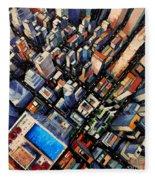 New York City Sky View Fleece Blanket