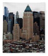 New York City Skyline 19 Fleece Blanket