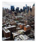 New York City Skyline 20 Fleece Blanket