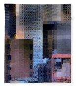 New York City Skyline No. 3 - City Blocks Series Fleece Blanket