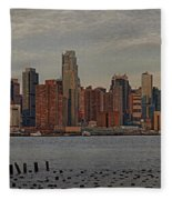 New York City Skyline Panoramic Fleece Blanket
